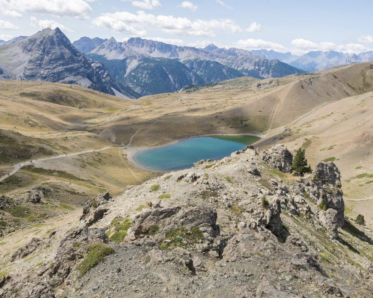 Gignoux (Lago) o dei Sette Colori da Cesana, giro per Col Chabaud, Lago Gignoux, Fort Gondran, Monginevro, Sagnalonga 2015-08-21