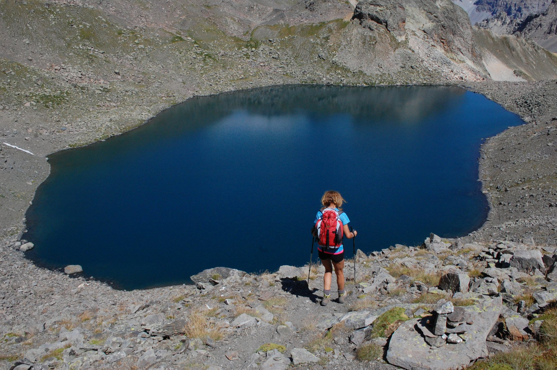 discesa verso il Lac Blanc