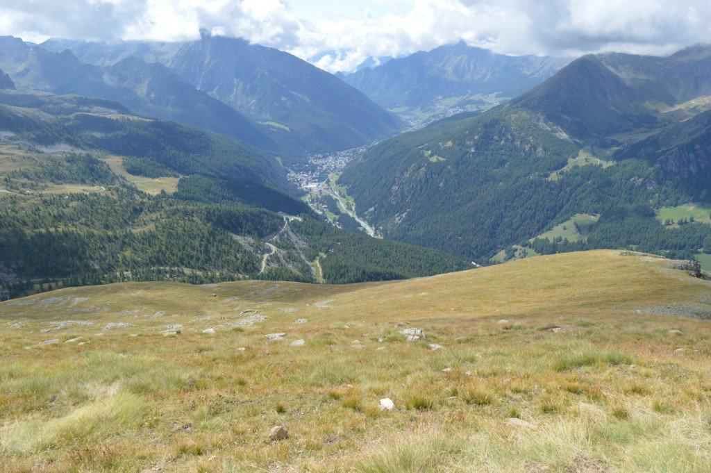 veduta dalla cima verso Champoluc