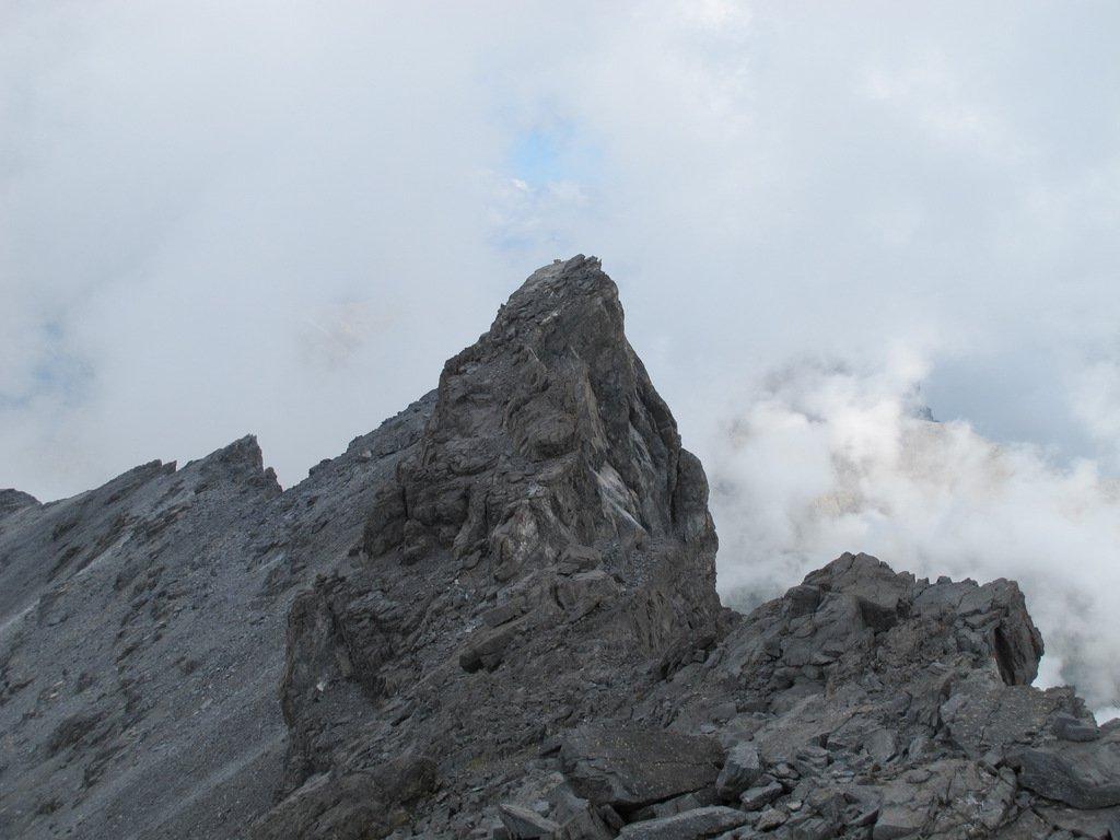 L'aguzza punta a N della cresta