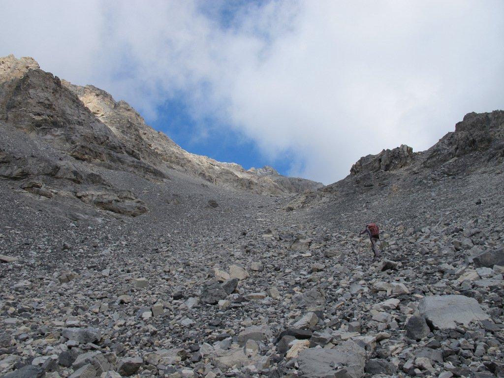 Risalendo il vallone a sx del Colle Baldassarre