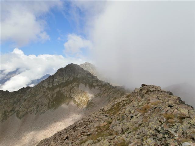 la cima Chiapuos vista dalla Rocca Barbis