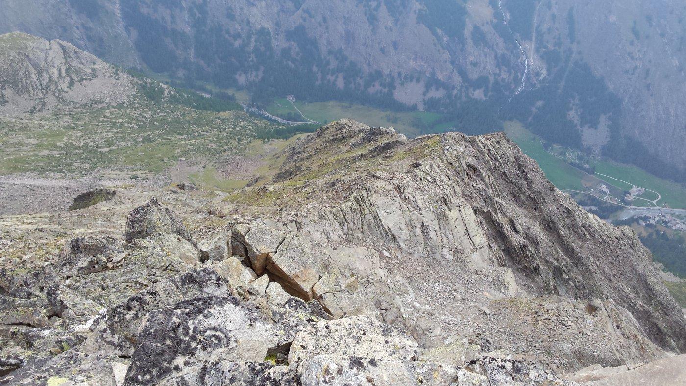 Cresta vista dall'alto (foto del 11/08/15)