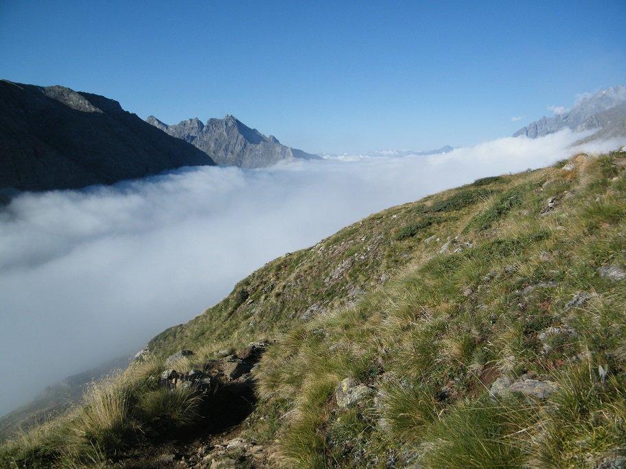 Mare di nubi sulla Valpelline