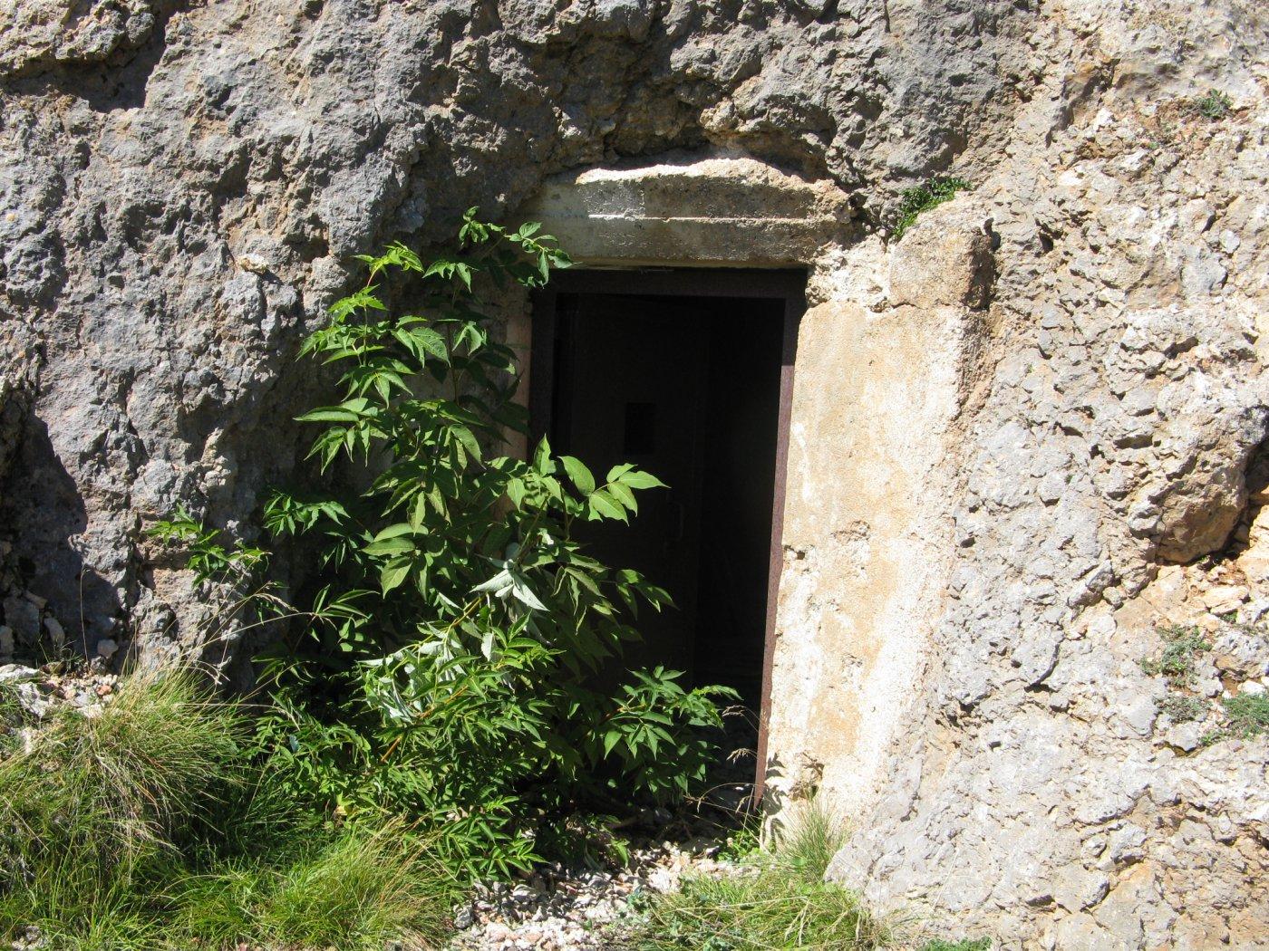 l'ingresso al bunker