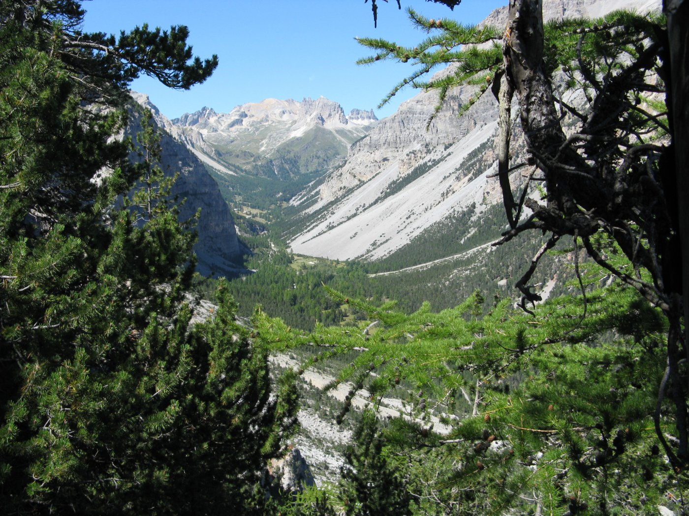 panorama sulla Valle Stretta