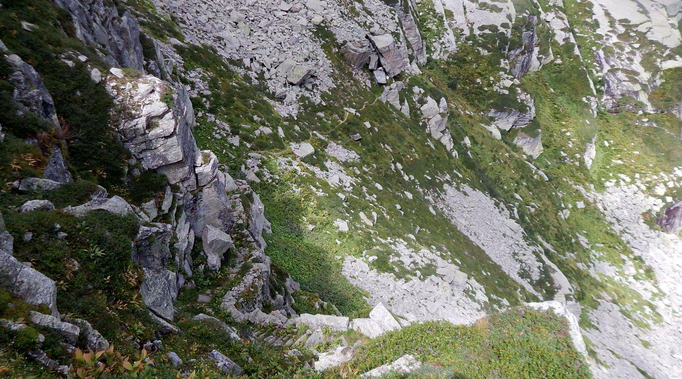 Si scende verso il lago Boiret