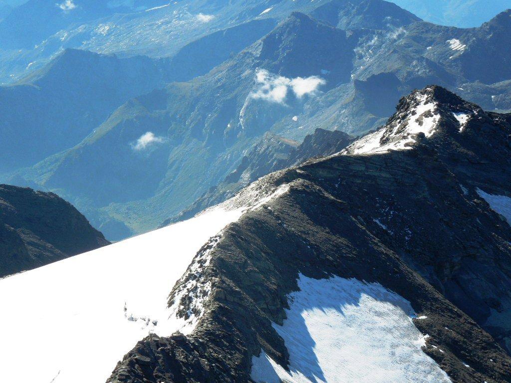La cresta verso il Collerin