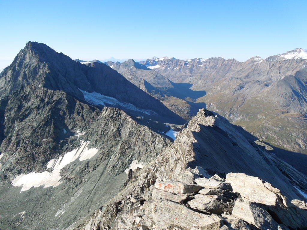 Dalla cima la cresta e la Bessanese