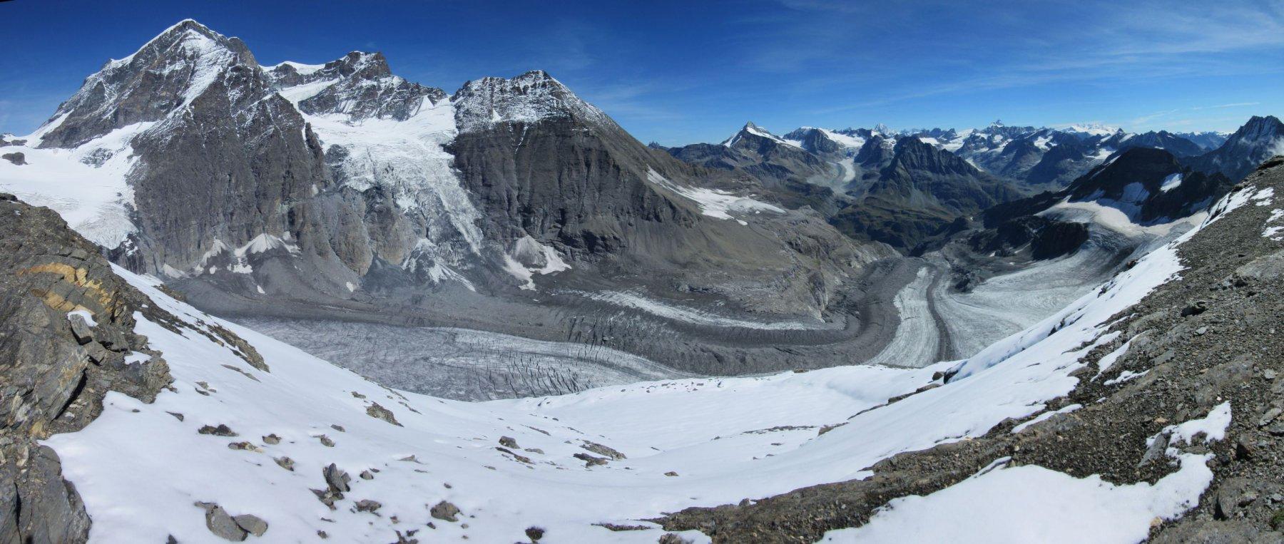 Panorama sul versante svizzero