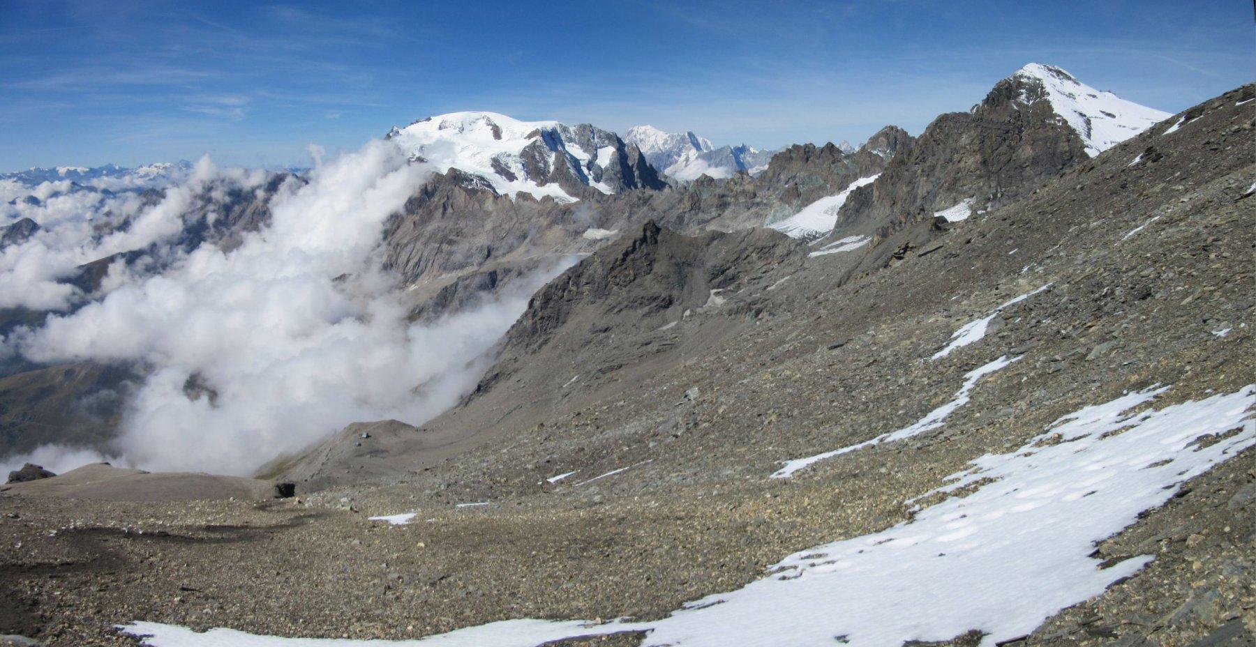 Panorama salendo alla Tete Blanche de By