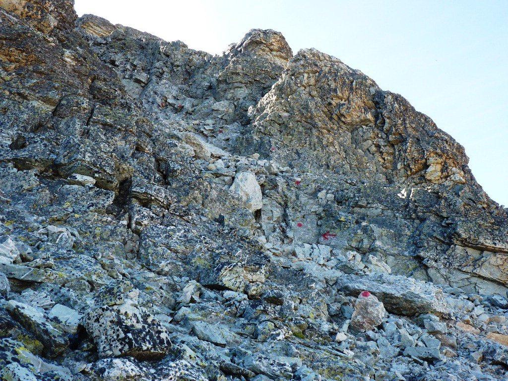 tratto intermedio della parte alpinistica