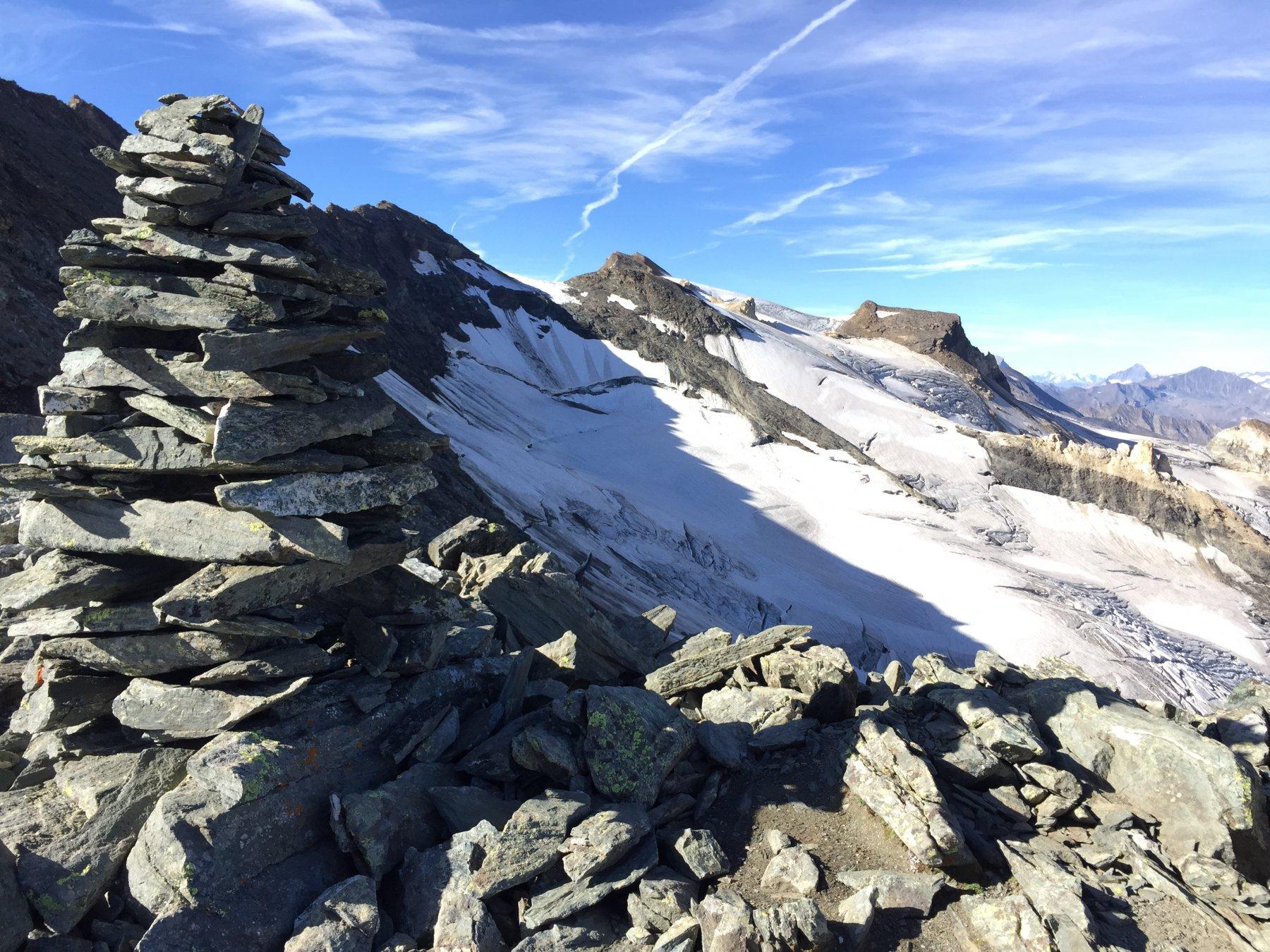 Dal Col Basei, il ghiacciaio della Val di Rhemes