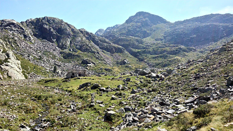 A 3/4 della salita - vista sull'alpe Camino