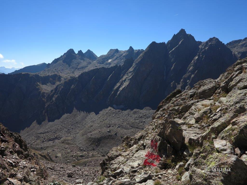 Vista dal Passo del Vallone verso l'alto Vallone del Piz