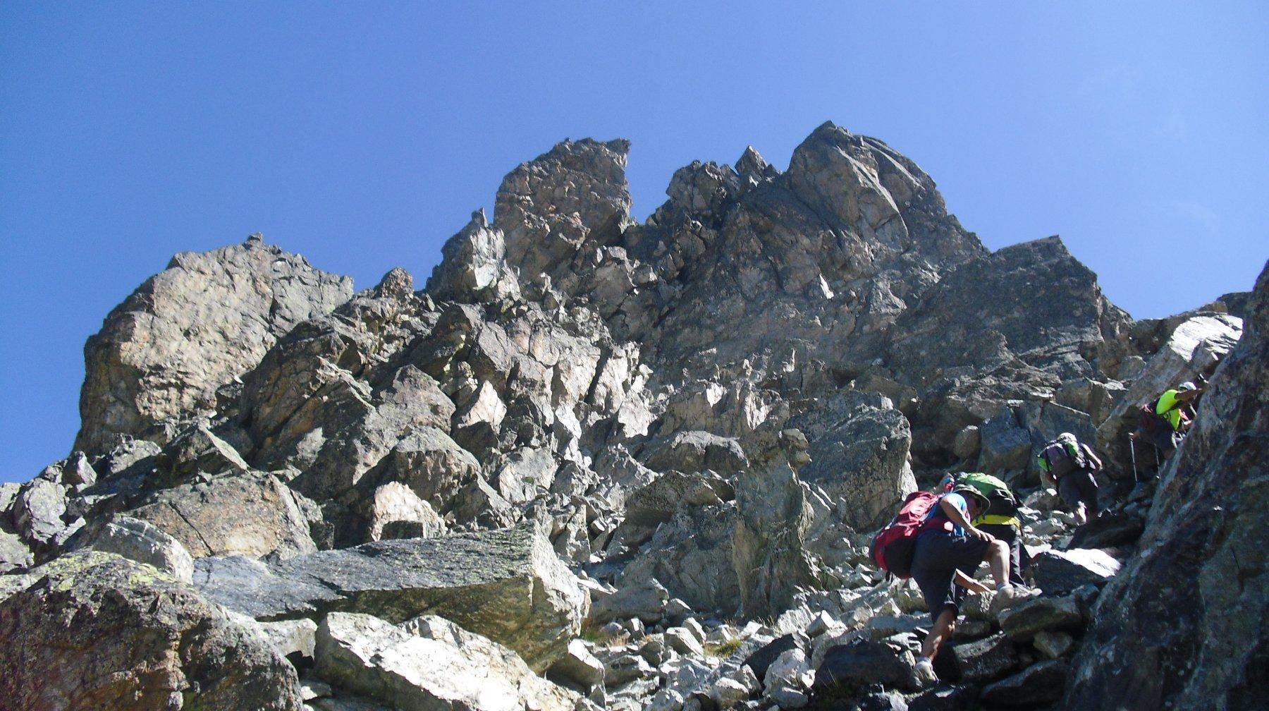 La parte alpinistica.