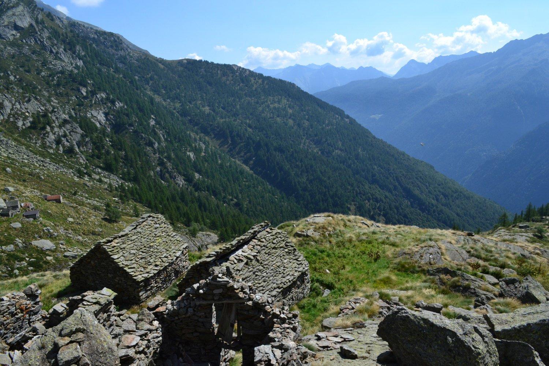 i tetti dell'Alpe Crose