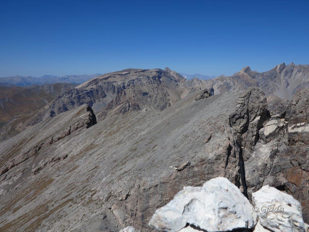 Le altre due cime della Souvagea e dietro la Mortice