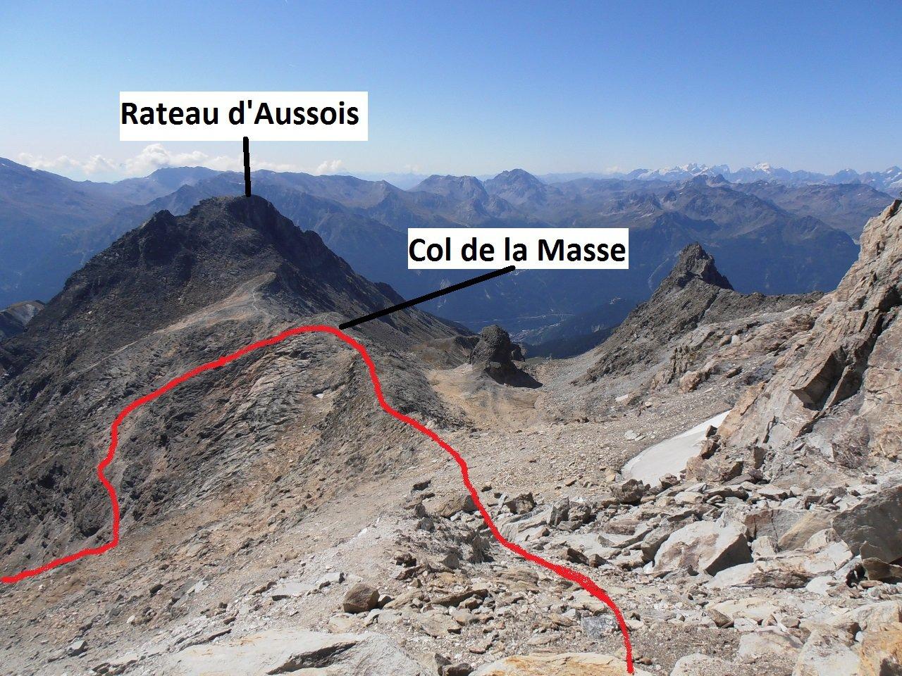 05 - quasi in cresta, percorso dal Col de la Masse