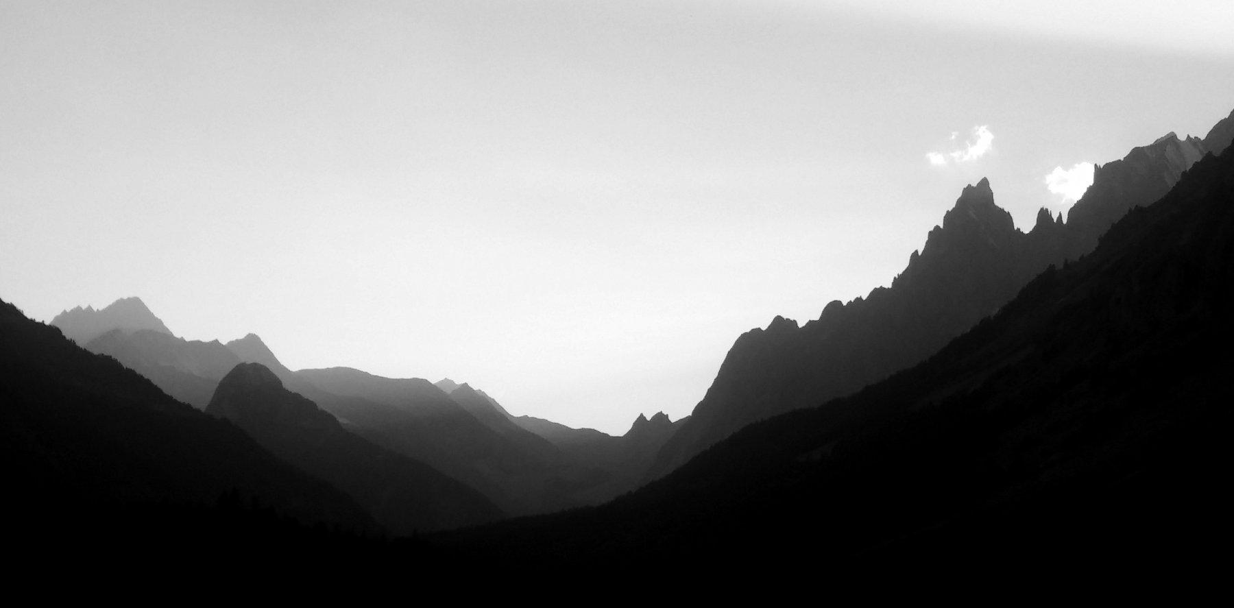 Panorama scendendo in val Ferret