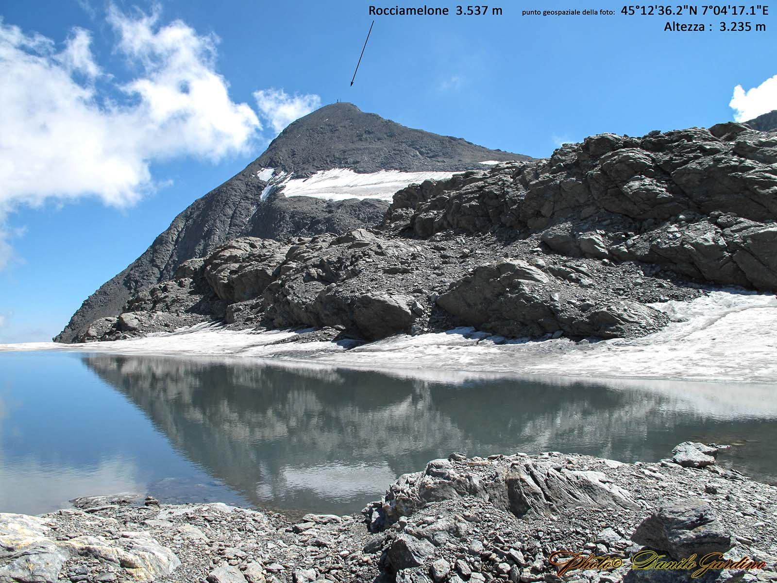 Dal ghiacciaio il Rocciamelone