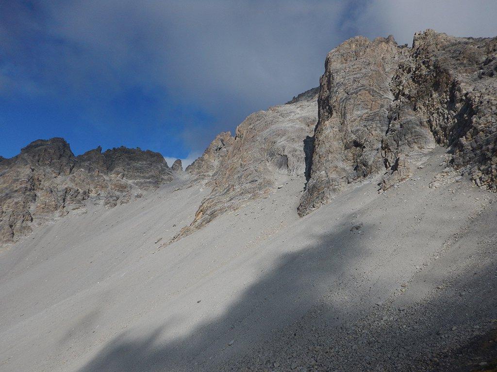 Traverso verso inizio parte alpinistica