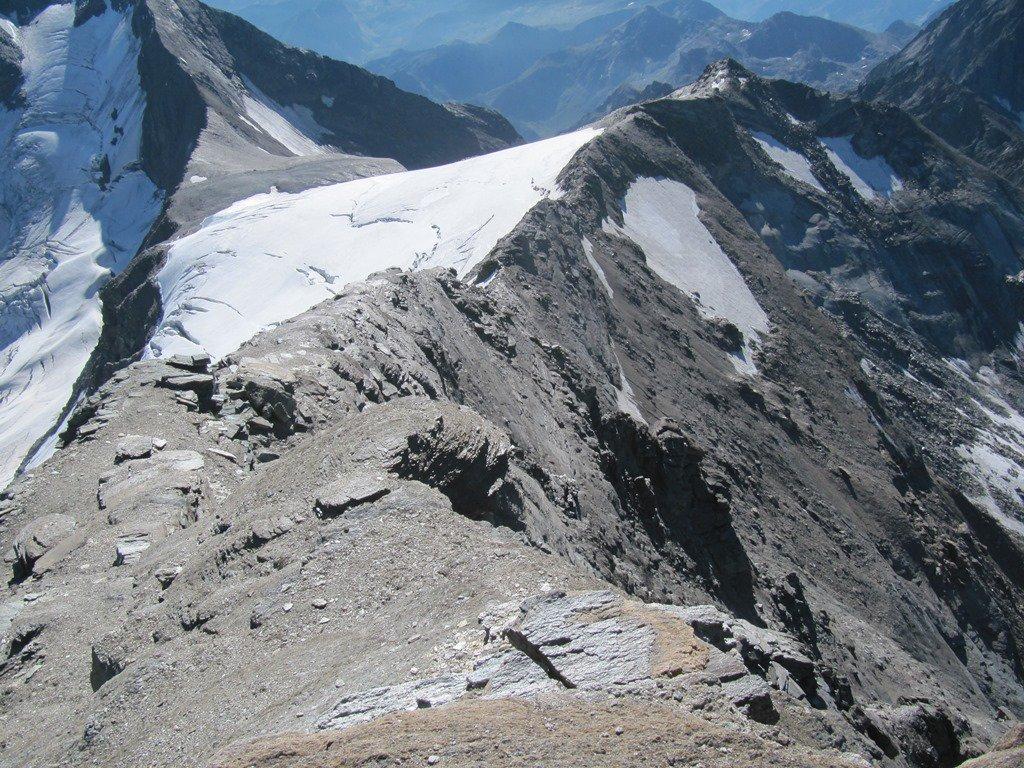 cresta percorsa per raggiungere l'Albaron