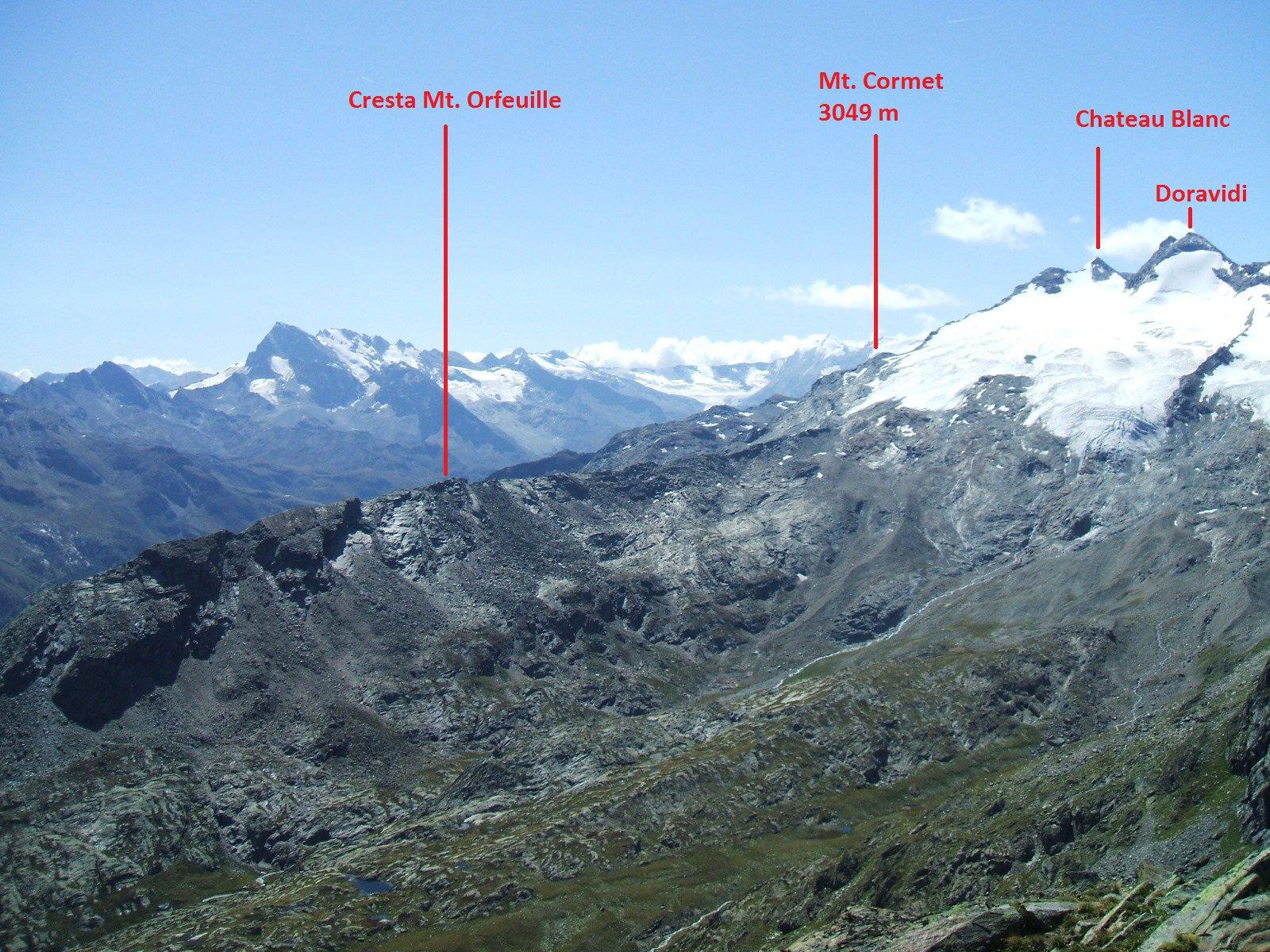 Vista dalla Punta della Crosatie (Settembre 2007)