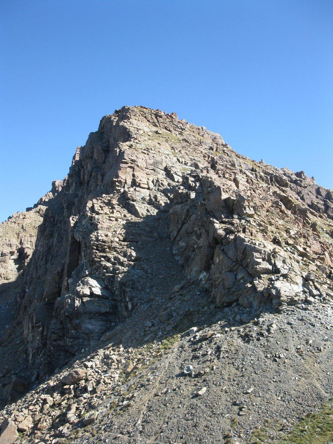 L'inizio della cresta a quota 2500 metri