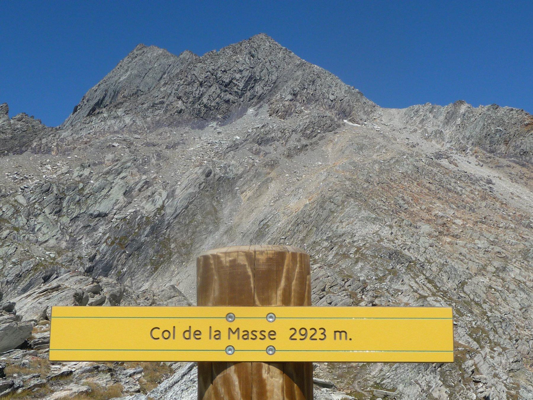 Il Gran Roc: sulla destra è ben visibile il colletto a quota 3220 metri