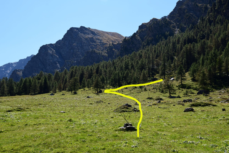 Inizio sentiero waypoint Sentiero