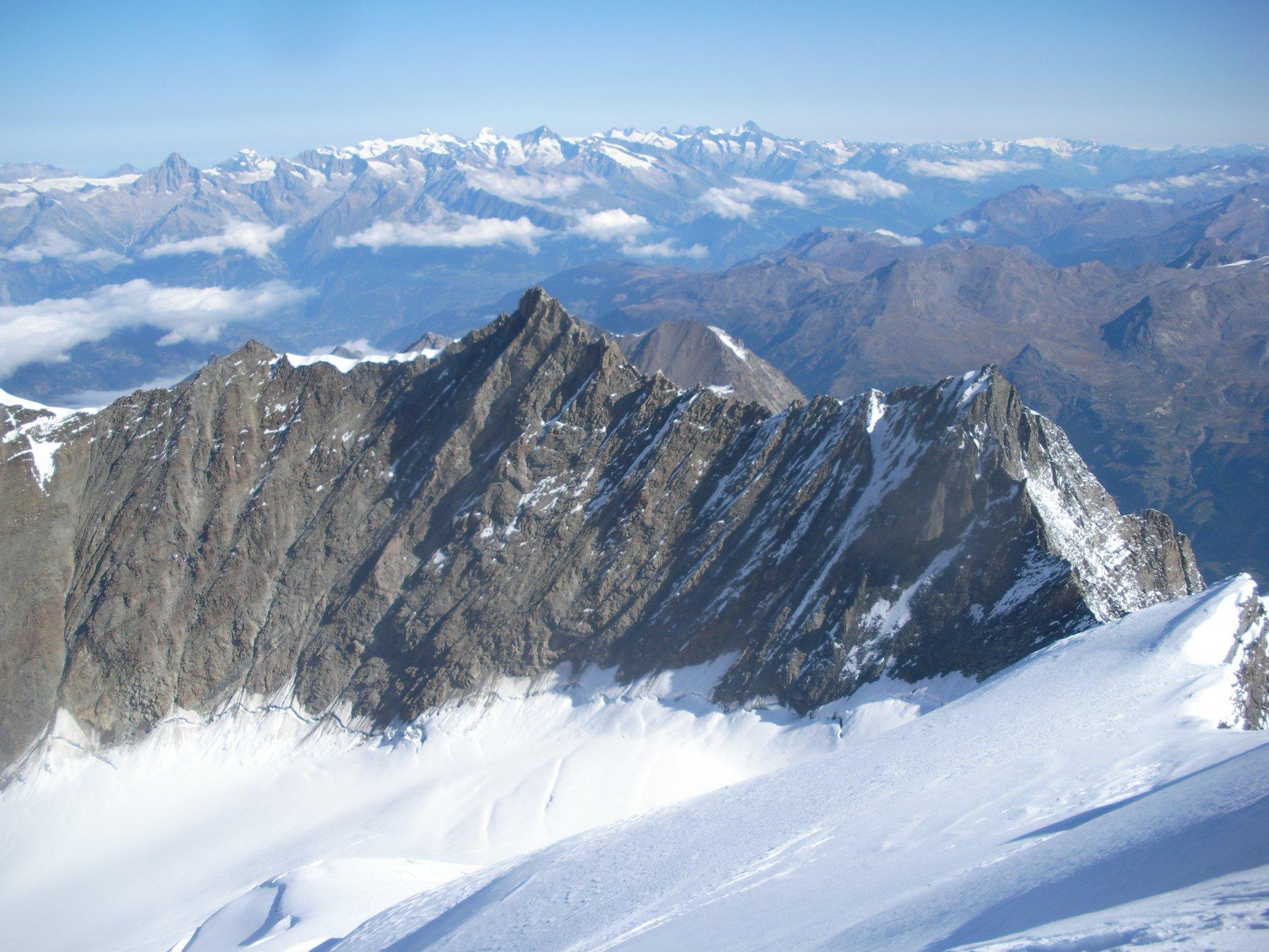 la Nadelgrat..dal tetto della Svizzera..