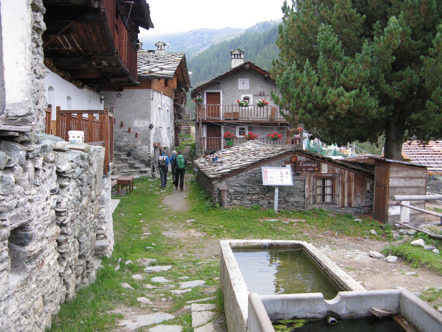 il villaggio di Cuneaz