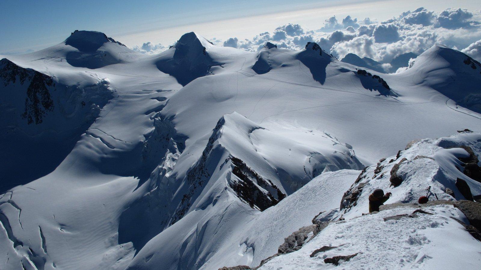 Dalla cima tutta la cresta percorsa