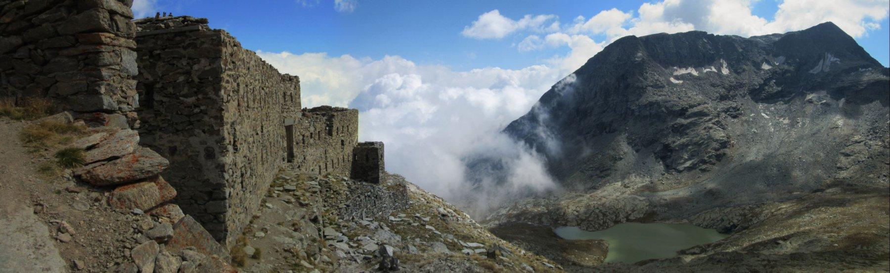 Forte di Malamot e lago Bianco