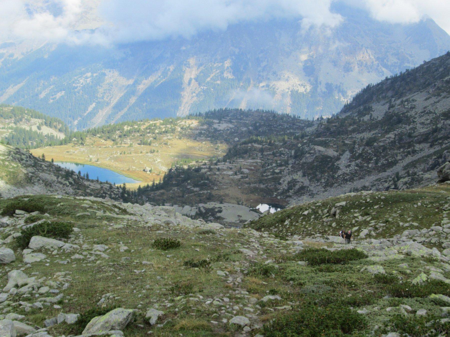lago di Dres in basso