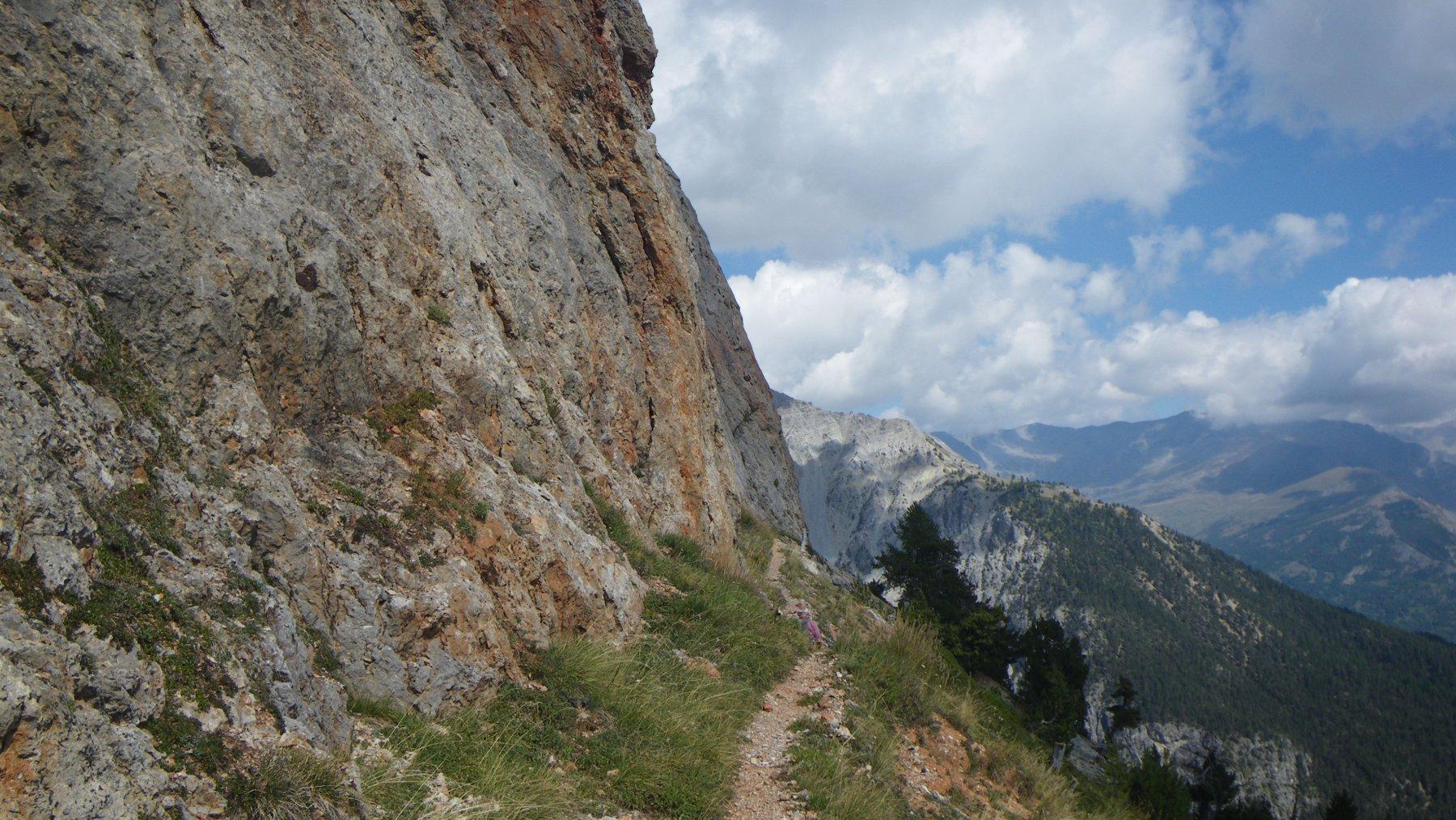 il panoramico sentiero di ritorno