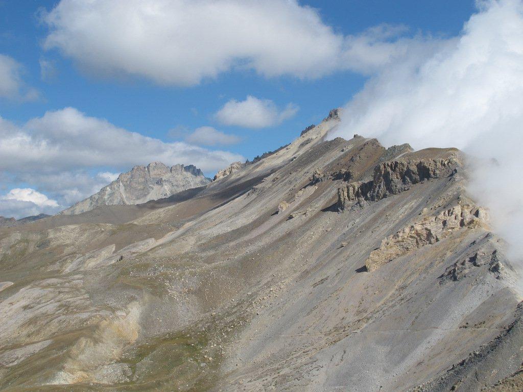 La cresta verso la Cima del Vallonetto e Rognosa di Etiache