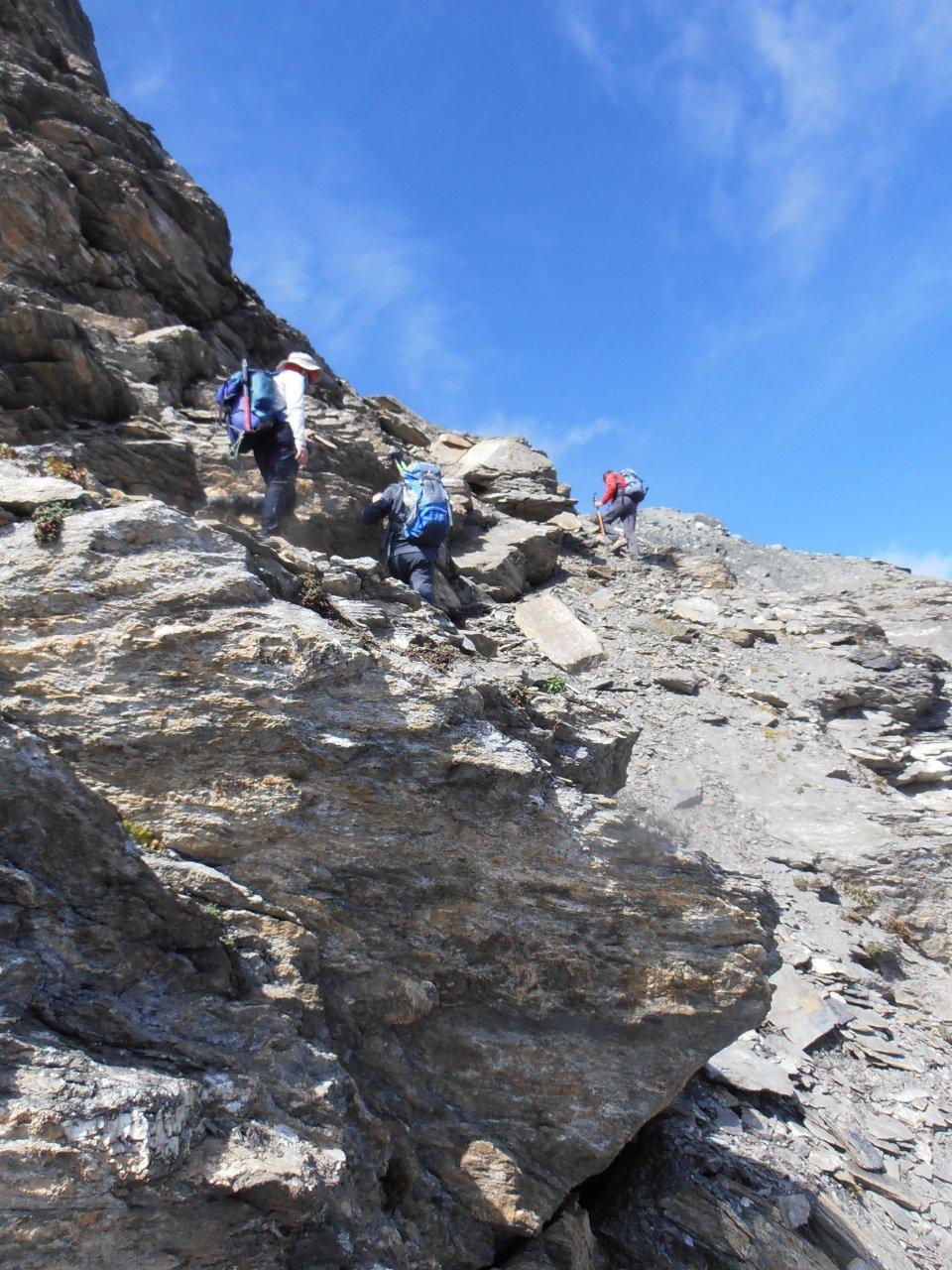 09 - canaletto finale sul versante sud che porta alla Pointe des Fours