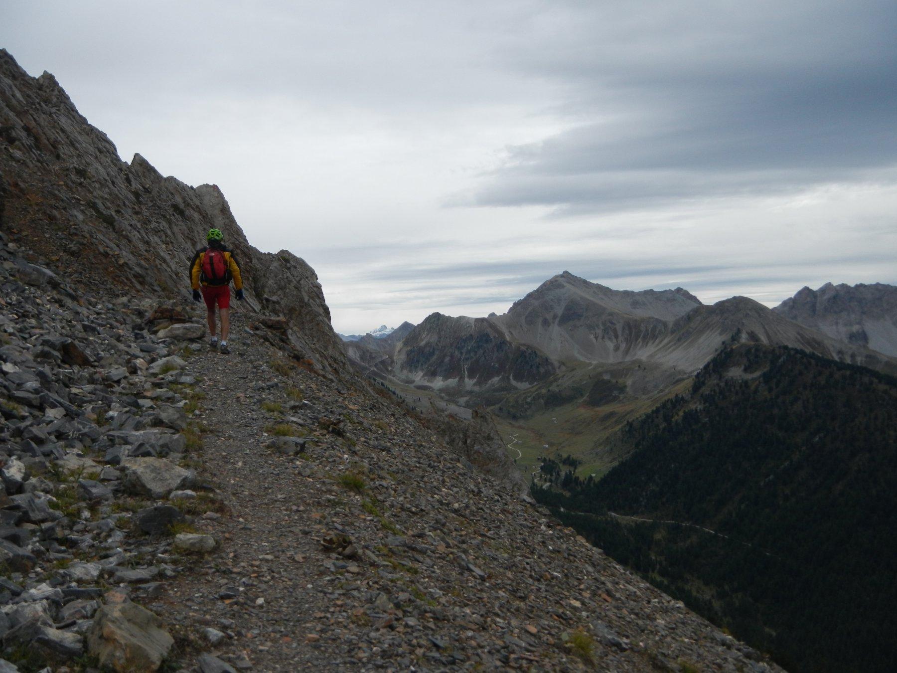 il tratto a piedi verso quota 2452 m.