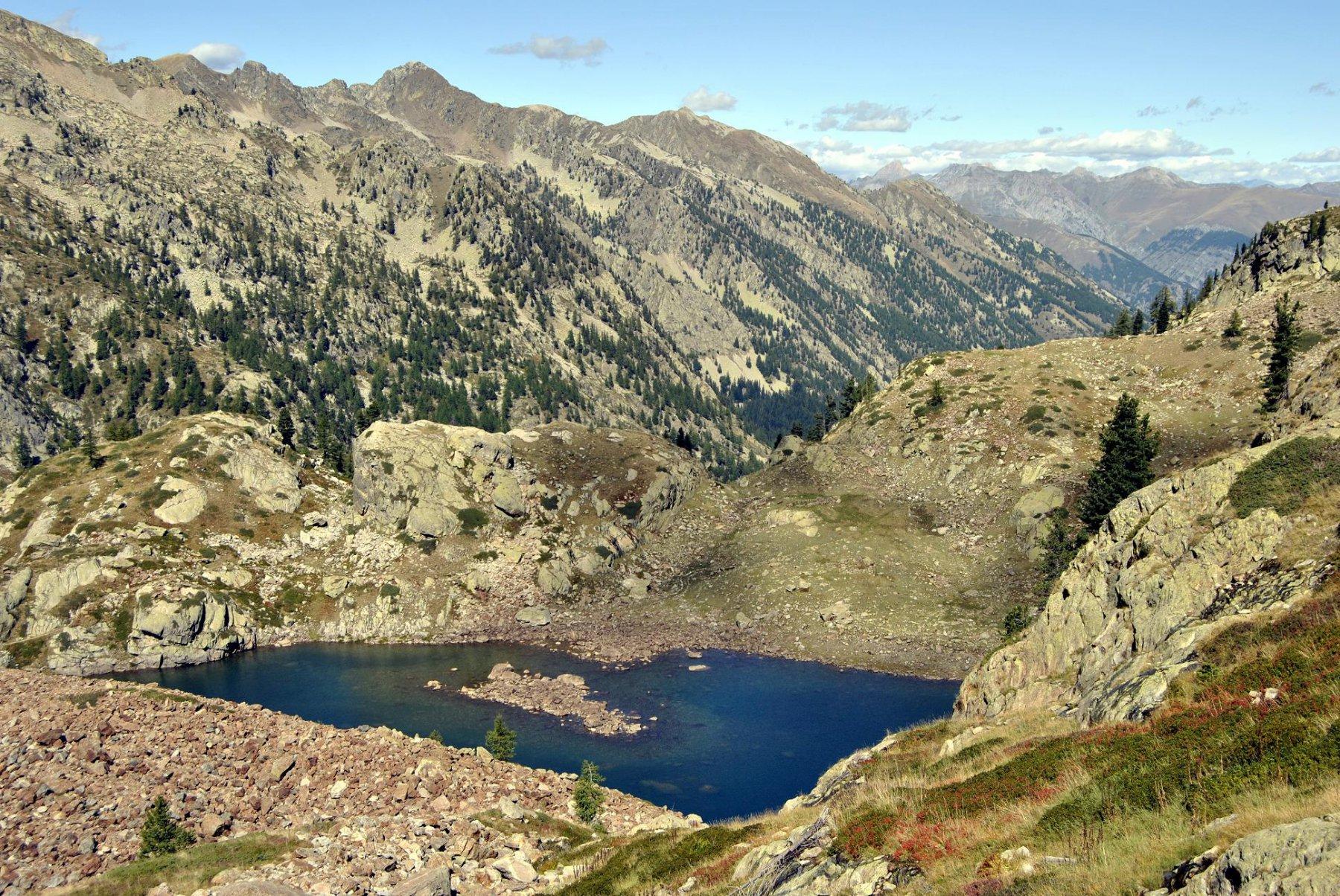 Lago Malinvern e vista verso NO