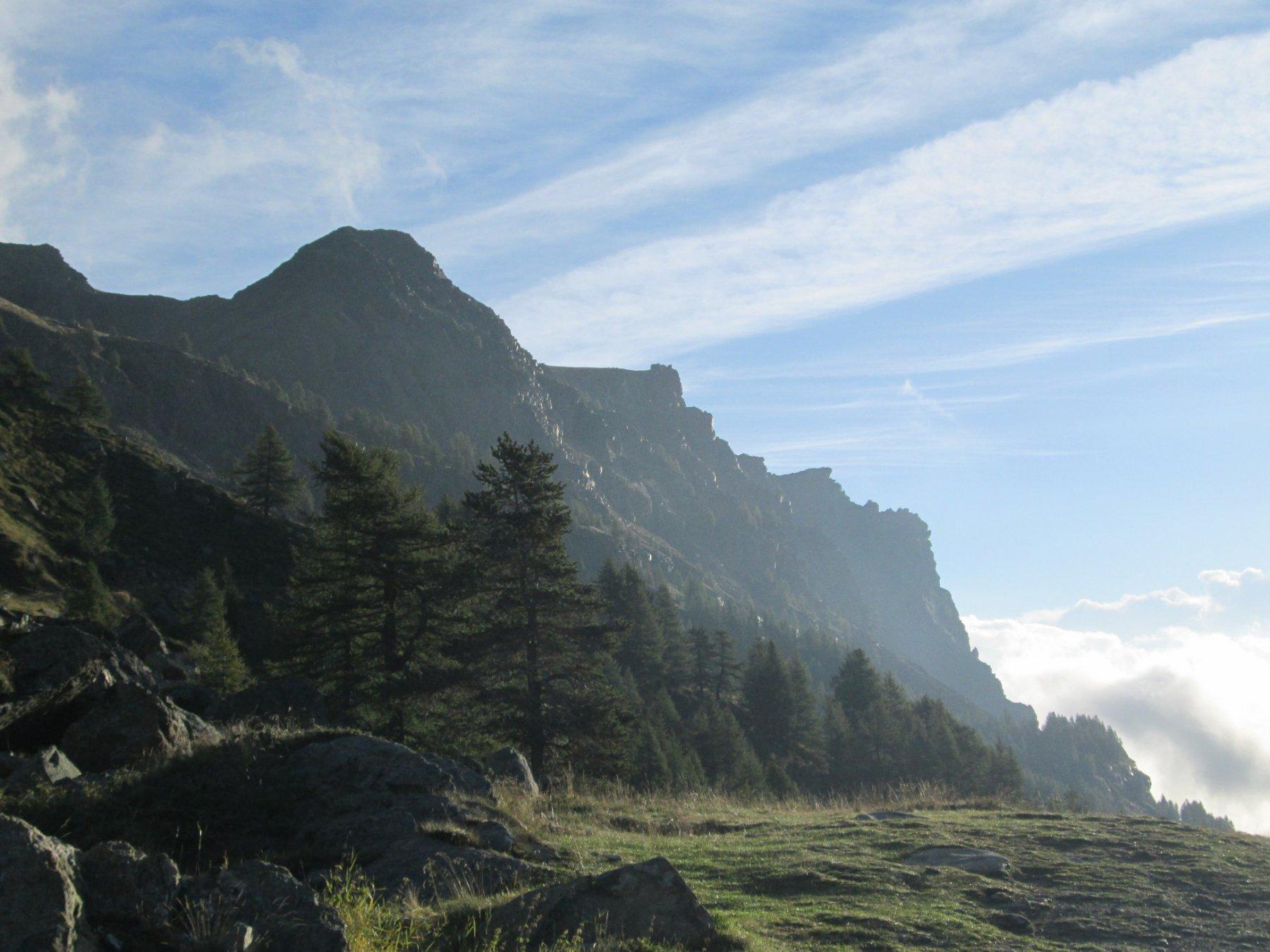 parete di roccia Bec Raty visibile da dondena