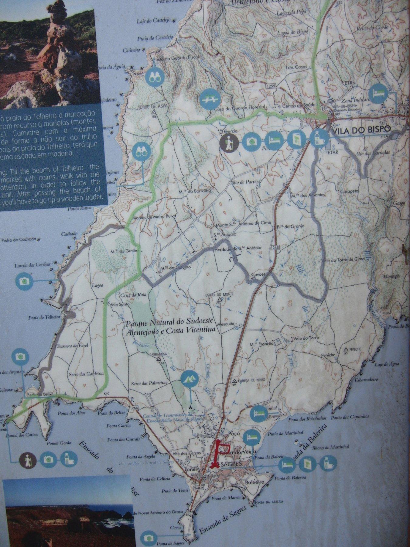 Mappa zona Sagres