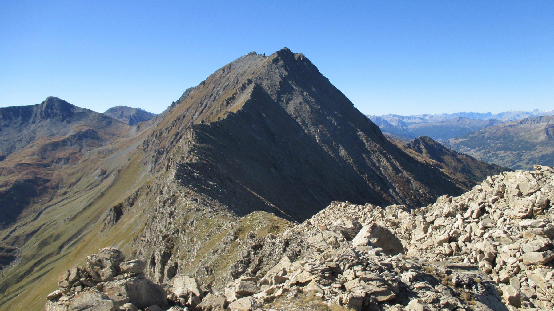 La cresta per l'Albergian