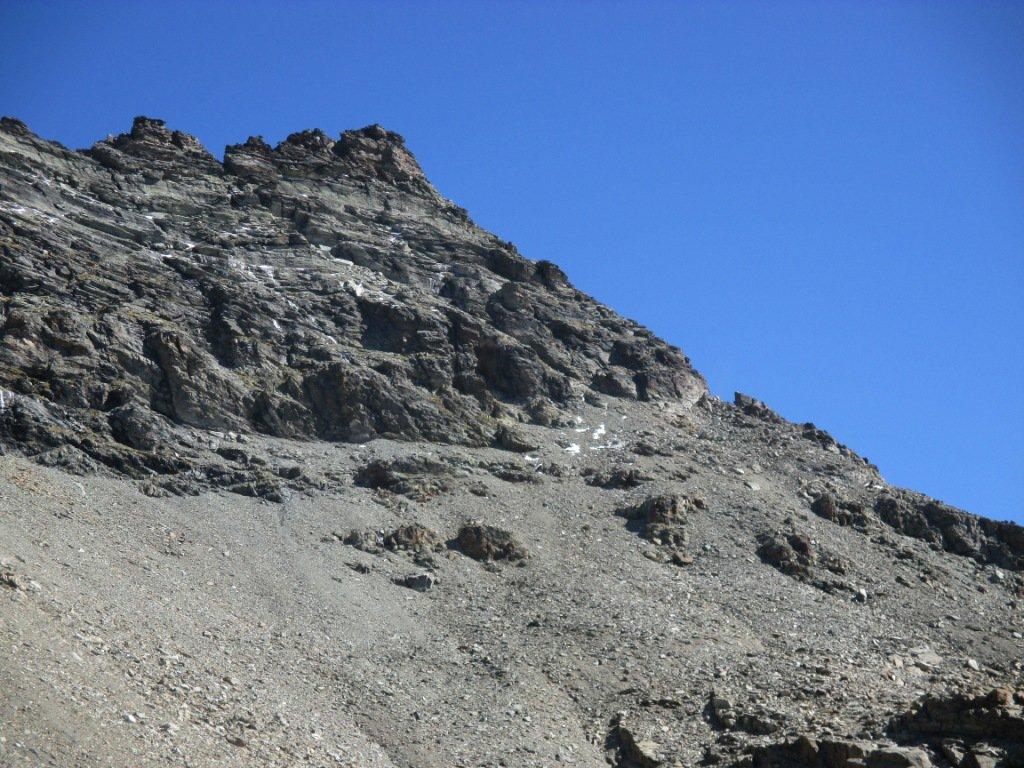cresta di salita punta Sud