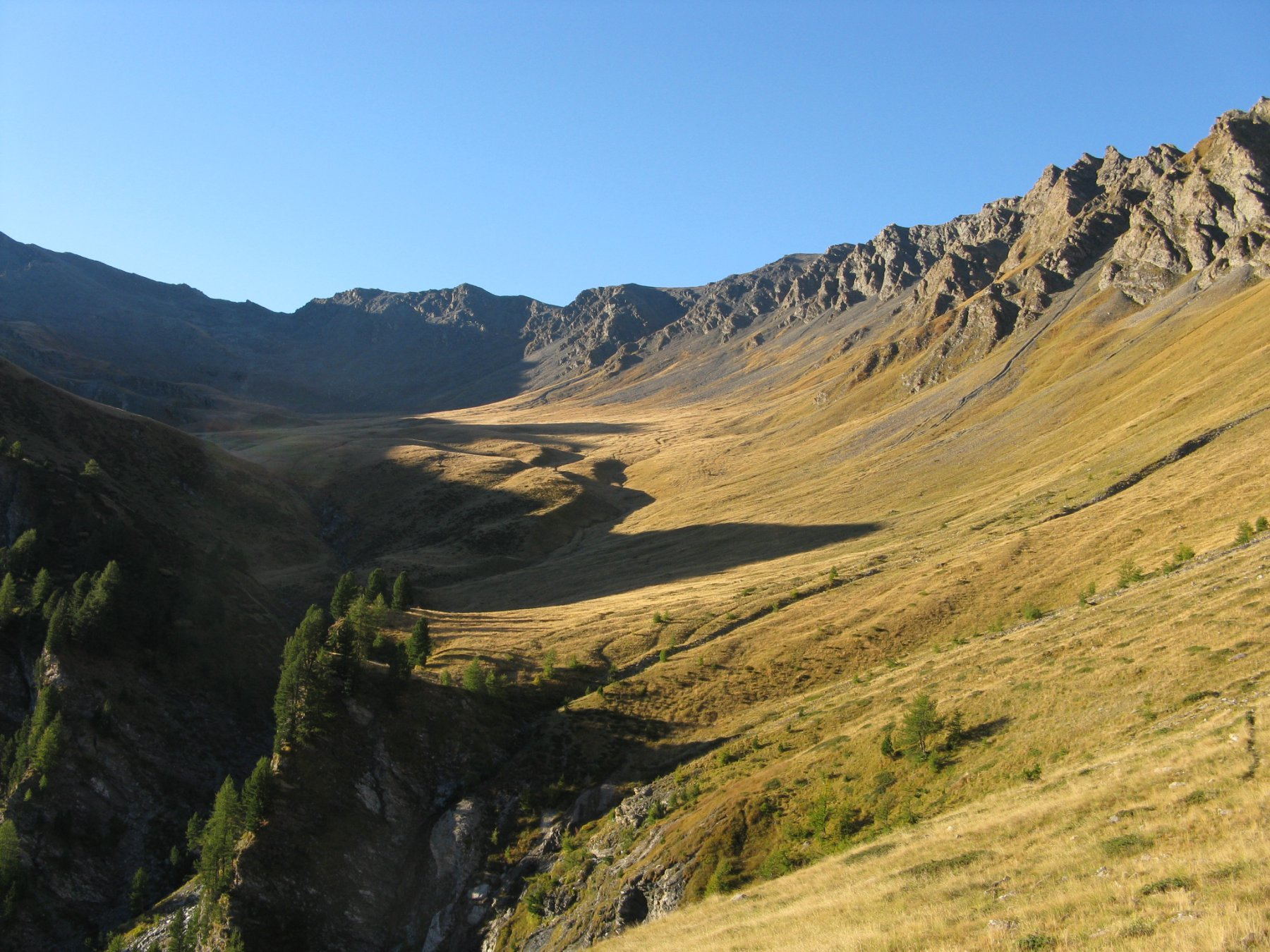 il vallone di salita dai 2400 mt. in su