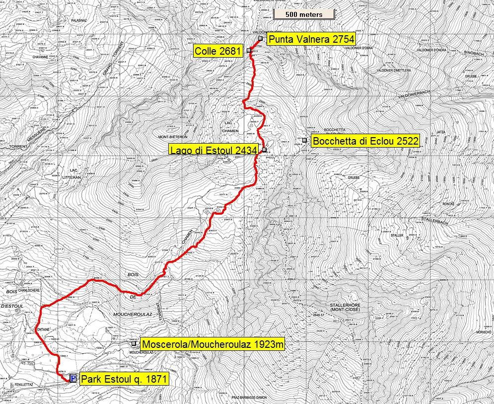 mappa itinerario descritto