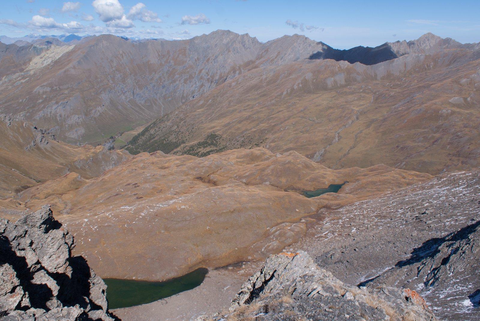 I laghi della Fioniere dalla vetta