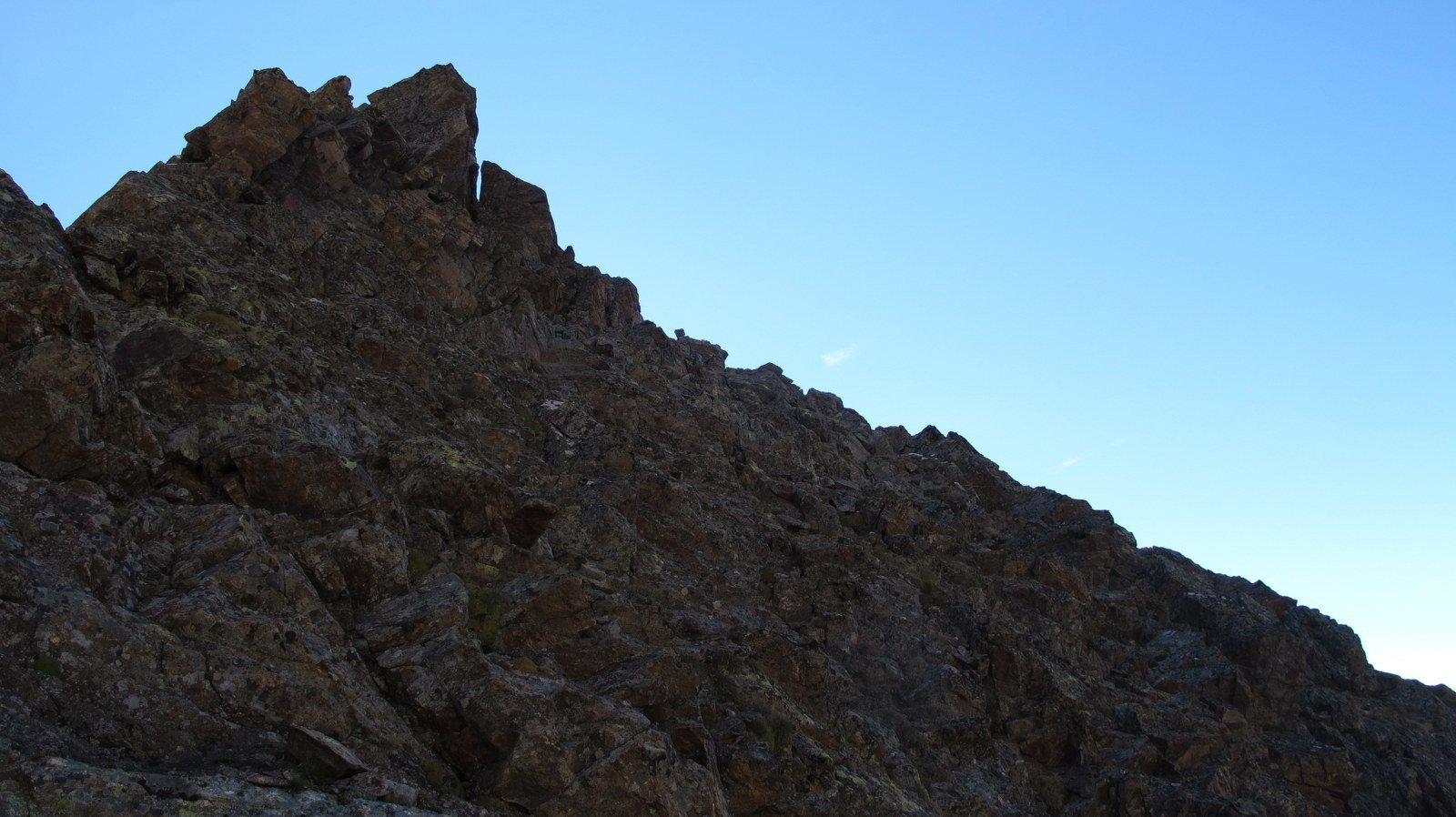 Parte superiore della cresta