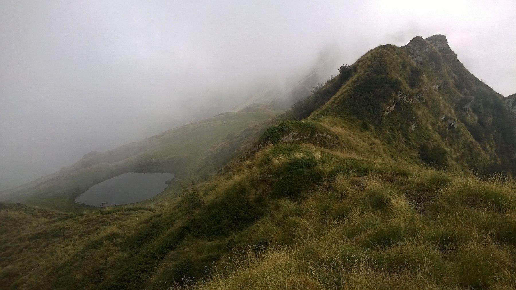 Saler (cima), Cima Loit e Cima Rosta dal Santuario di Prascondù, anello per la Bocchetta di Rosta e il Colle Crest 2015-09-25